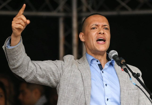 Britain's main opposition Labour Party MP Clive Lewis addresses a demonstration against the State Visit of US President Donald Trump in central London on June 4, 2019, on the second day of Trump's three-day State Visit to the UK. - US President Donald Trump turns from pomp and ceremony to politics and business on Tuesday as he meets Prime Minister Theresa May on the second day of a state visit expected to be accompanied by mass protests. (Photo by ISABEL INFANTES / AFP)ISABEL INFANTES/AFP/Getty Images