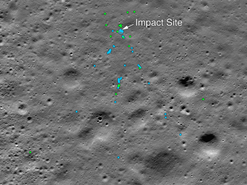 Nasa finds wreckage of Indian spacecraft that crashed on the moon