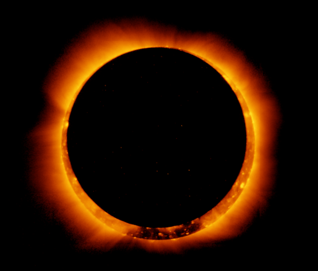 A view of an annular eclipse captured by a Nasa satellite (Image: Nasa)