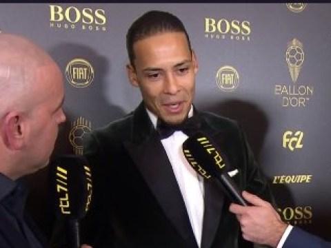 Virgil van Dijk trolls Cristiano Ronaldo at the Ballon d'Or awards