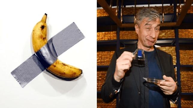 Banana taped to wall sells for $120,000 at top art fair