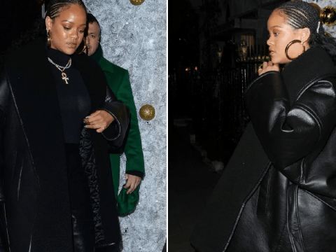 Rihanna is pure fashion as she parties in London after admitting she needs 'balance' in life