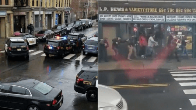 'Male and female' shooters dressed in black 'storm convenience store in Jersey City'