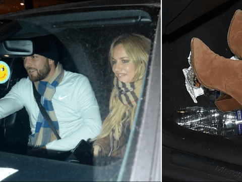 Caroline Flack gets boot stuck on boyfriend's parking ticket ahead of winter Love Island stint