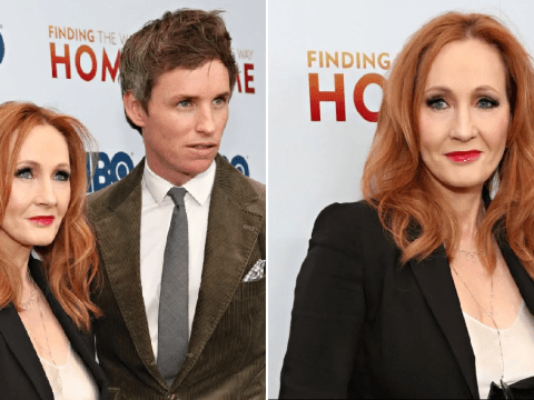 JK Rowling has mini Harry Potter reunion with Eddie Redmayne at Finding The Way Home premiere