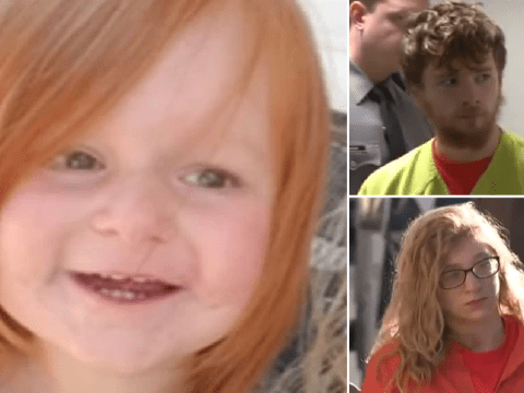 Murdered toddler's brain had to be partially-removed after she was battered for picking at her food