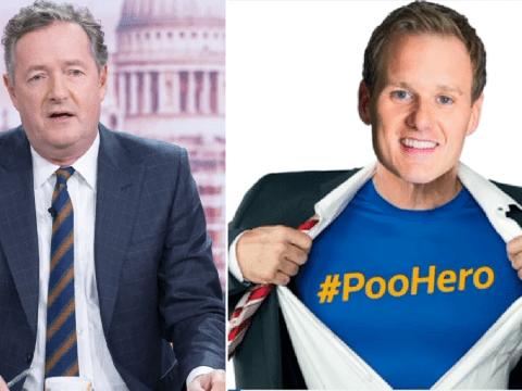 Piers Morgan reignites Dan Walker row as he brands BBC rival 'Poo hero'