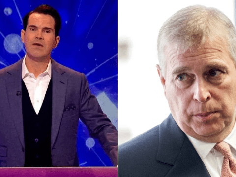 Jimmy Carr jokes about Prince Andrew 'spending time with other people's daughters' on Big Fat Quiz of the Year