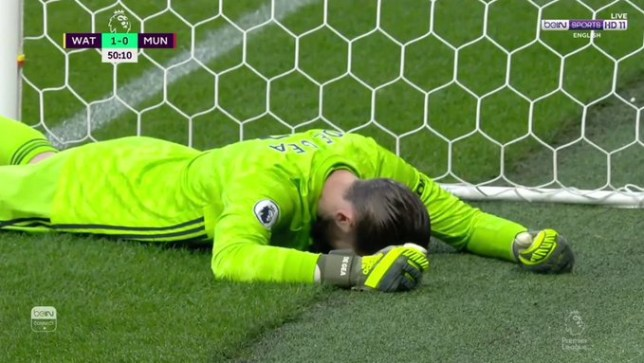 David de Gea committed a huge blunder in Man Utd's defeat to Watford