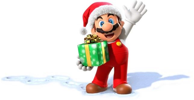 Super Mario en tant que père Noël
