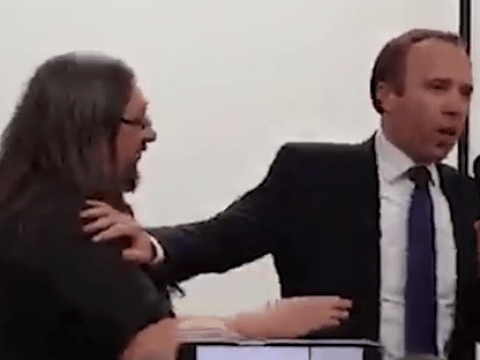 Matt Hancock refuses to give up microphone as he's heckled at hustings