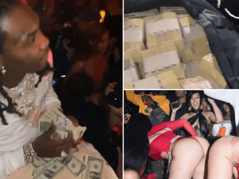 Cardi B gifts Offset $500k in cash for his 28th birthday – so he spent it on strippers