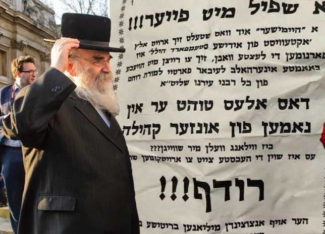 Poster calls for murder of rabbi who criticised Diane Abbott over anti-Semitism