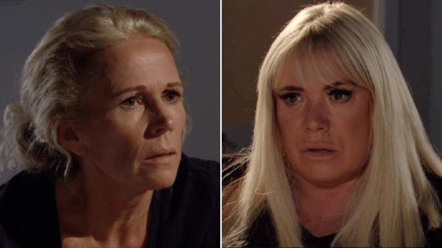 Sharon Mitchell and Lisa Fowler in EastEnders
