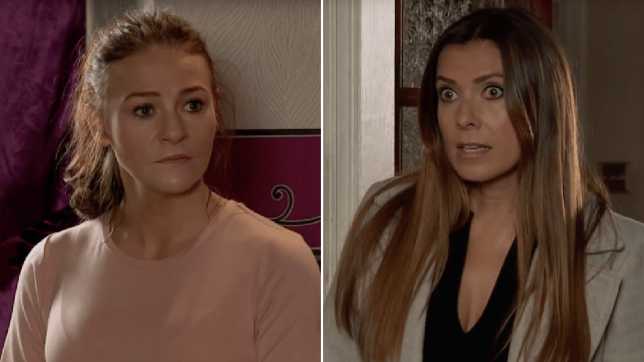 Vicky Jeffries and Michelle Connor in Coronation Street