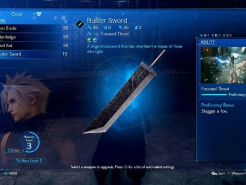 Final Fantasy VII Remake will feature weapon system changes