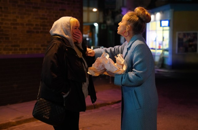 Linda Carter and Sharon Mitchell in EastEnders