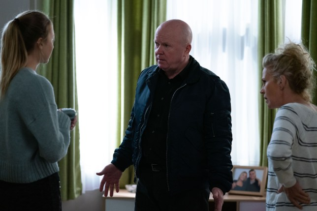 Louise and Phil Mitchell and Lisa Fowler in EastEnders