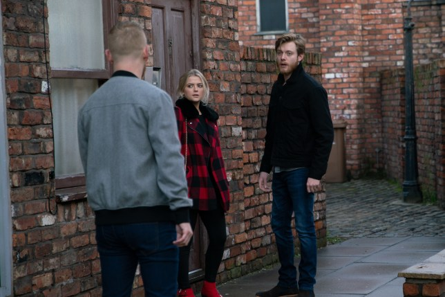 Daniel, Gary and Bethany in Coronation Street