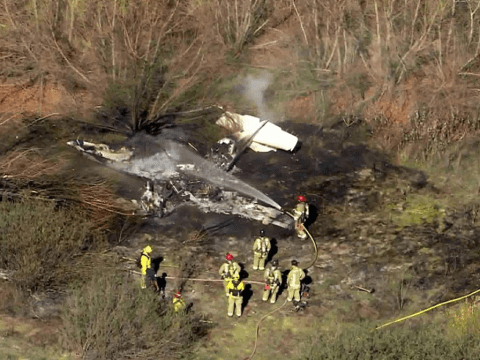 Four killed after small plane crashes and burst into flames in California