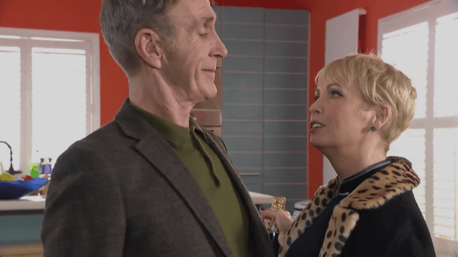 Marnie Nightingale and Edward Hutchinson in Hollyoaks