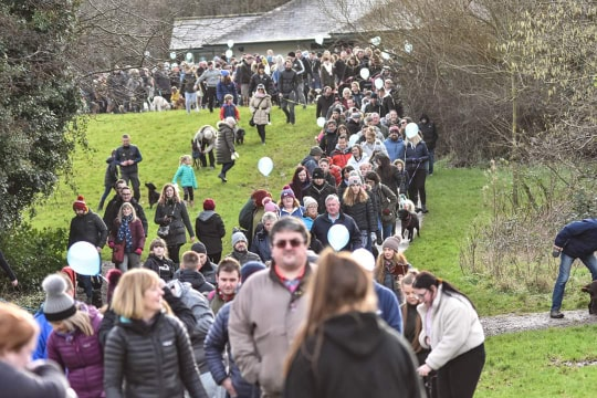 Some of the hundreds of people on Marley's Big walk