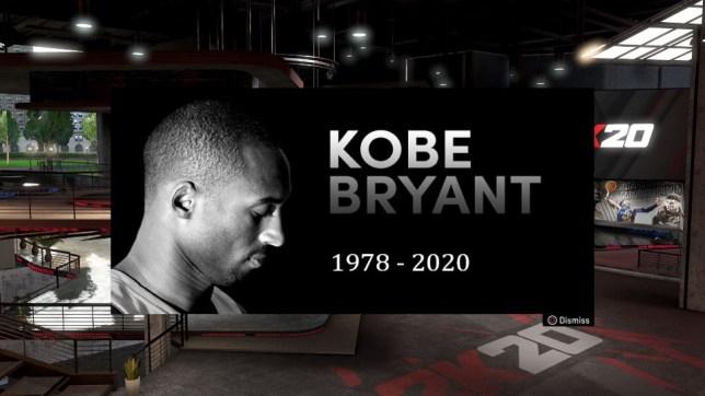 NBA  2K20 Kobe Byrant tribute
