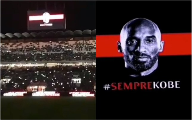 AC Milan paid a special tribute to Kobe Bryant at San Siro