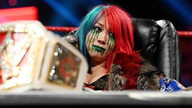 WWE women's tag team champion Asuka on Raw