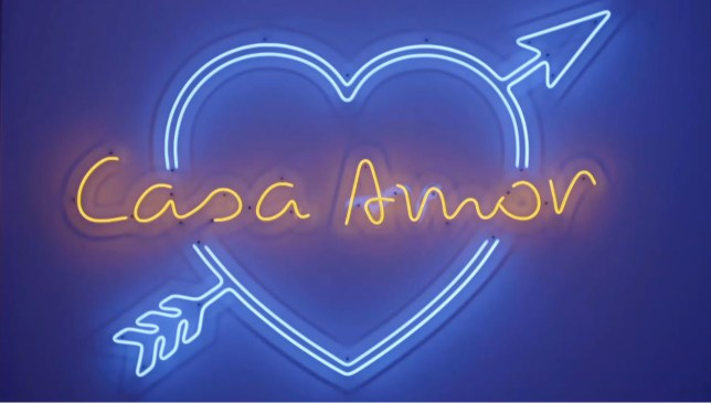 the casa amor logo from love island