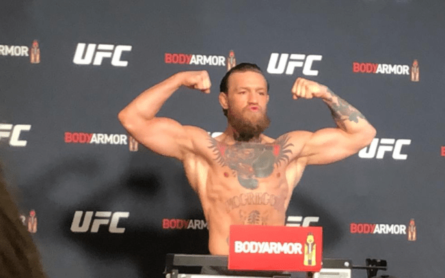 Conor Mcgregor Looks Strong And Ripped As He Weighs In For