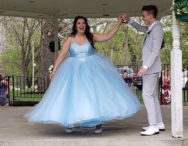 Adrianna Rust and Parker Smith on their prom day