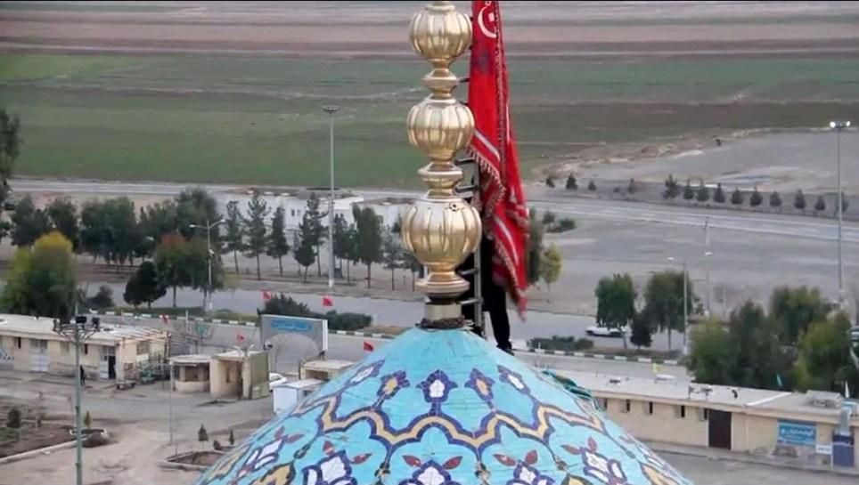 Picture: Metro Grab Iran unfurls red flag of war https://twitter.com/BabakTaghvaee/status/1213447201889886211