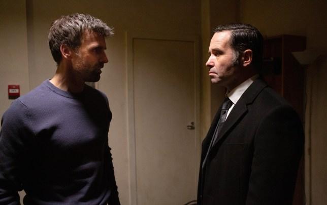 Graham confronts Pierce in Emmerdale