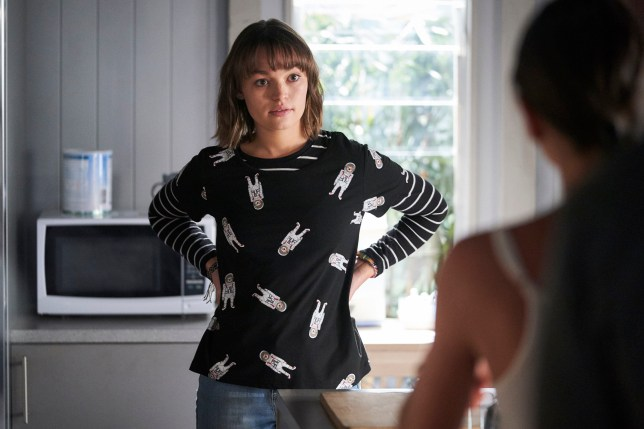 Bella talks to Mackenzie