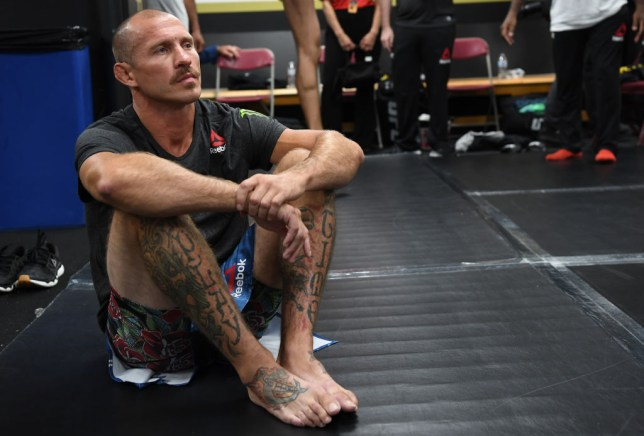 Donald Cerrone waits to be called for his UFC fight backstage