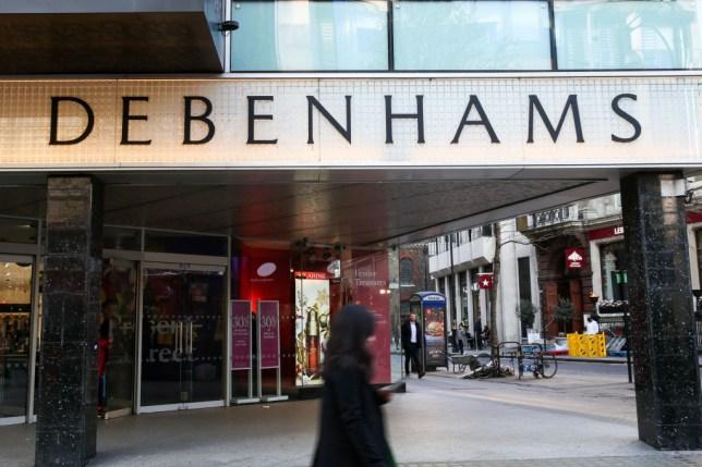 Debenhams shop front