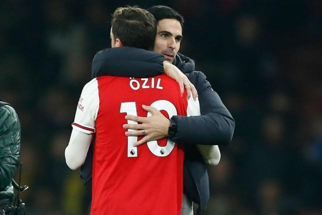 Arsenal star Mesut Ozil and Mikel Arteta