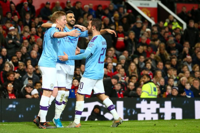 Manchester City embarrassed Manchester United in the first half