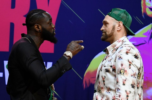 Tyson Fury and Deontay Wilder face off ahead of their rematch