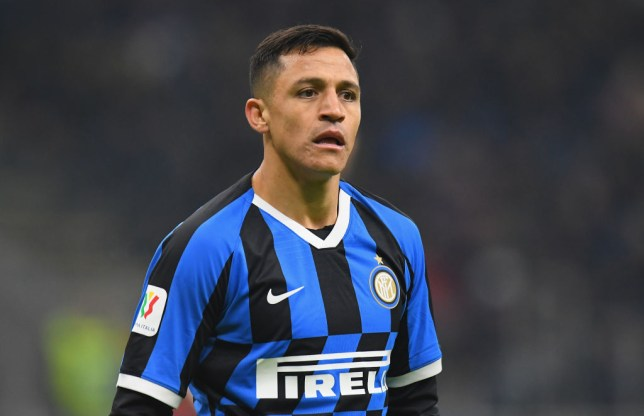 Manchester United attacker Alexis Sanchez plays on loan for Inter Milan