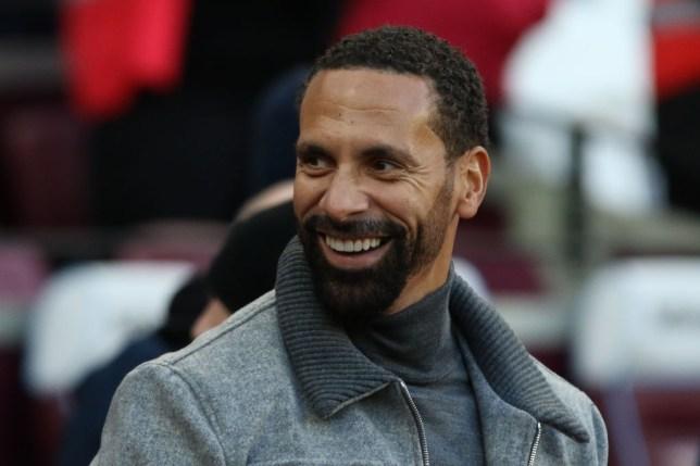 Manchester United legend Rio Ferdinand smiles