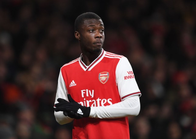 Nicolas Pepe produced one of his finest displays in an Arsenal shirt against Manchester United in the Premier League