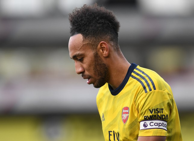 Pierre-Emerick Aubameyang was sent off in Arsenal's 1-1 draw against Crystal Palace