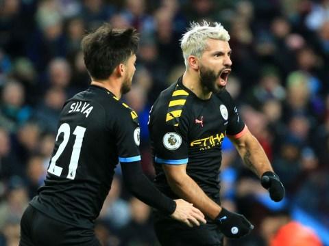 Sergio Aguero breaks Thierry Henry's Premier League record as Manchester City thrash Aston Villa