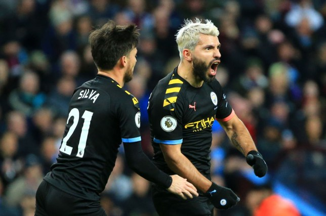 Manchester City striker Sergio Aguero equalled Thierry Henry's Premier League record
