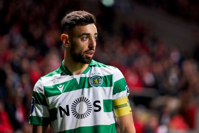 Bruno Fernandes is pictured in action for Sporting Lisbon