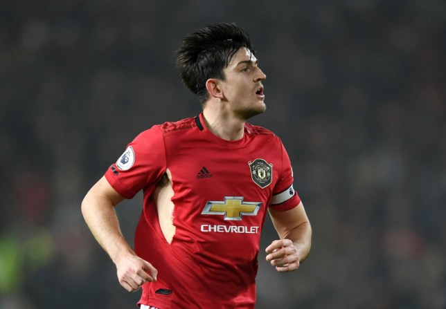 Manchester United captain Harry Maguire jogs against Burnley