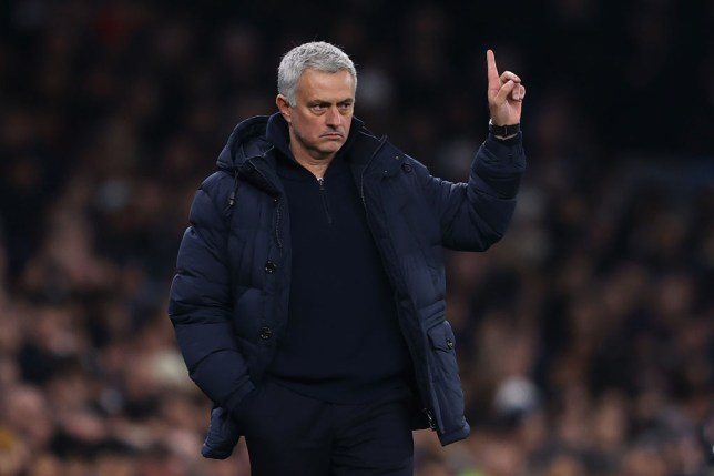 Tottenham manager José Mourinho looks on during the Premier League match between Tottenham Hotspur and Norwich City at Tottenham Hotspur Stadium on January 22, 2020 in London, United Kingdom.