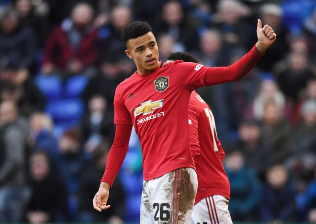 Mason Greenwood celebrates his 10th Manchester United goal